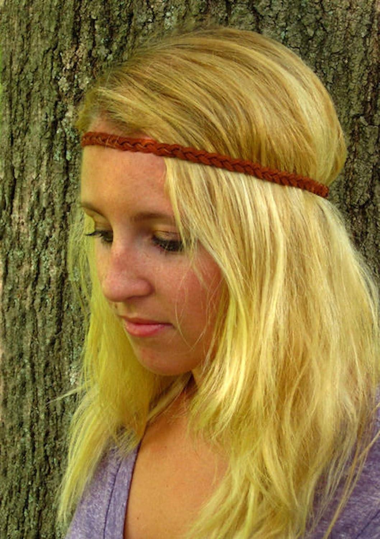braided headbands newborn headband braid suede headband Deena- suede tie back headbands baby headband suede tieback newborn photo prop