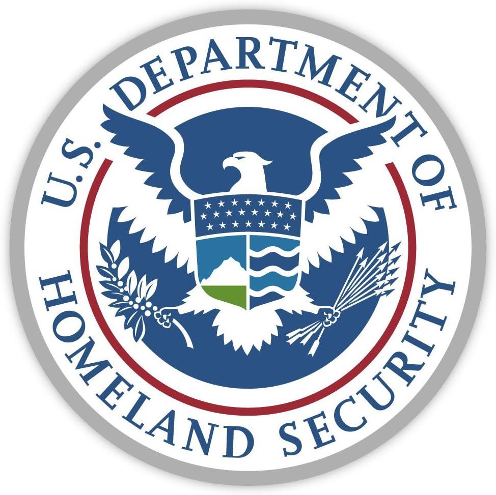 "U.S. Department of Homeland Security USA sticker decal 4"" X 4"""