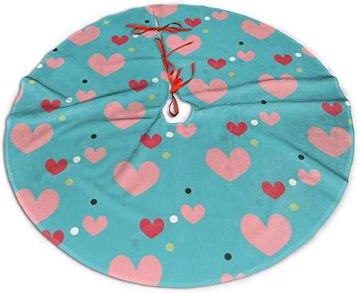 Pengyong - Falda de árbol de Navidad, diseño de corazón Rojo ...