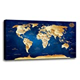 Amazon Price History for:Wall Art Prints Vintage World Map Painting Ready to Hang Large Framed Canvas Art Retro Map of the World Painting Abstract Picture Artwork for Home Office Decor