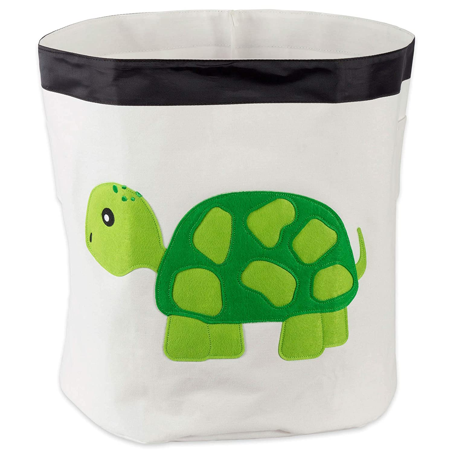 E-Living Store Collapsible Storage Bin Basket for Bedroom, Nursery, Playroom and More 17x18 Diameter - Turtle
