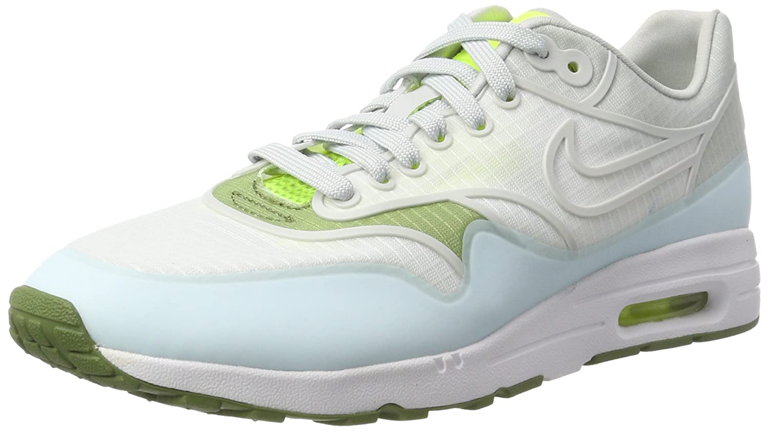 Nike Damen Wmns Air Max 1 Ultra 2.0 SI Sneakers  40 EU|Elfenbein (White/Pure Platinum/Volt/Palm Green)