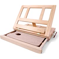 Desk Easel - Table Desk Top Easel Box with Art Supply Storage Drawer, Adjustable Easel for Painting, Drawing & Sketching