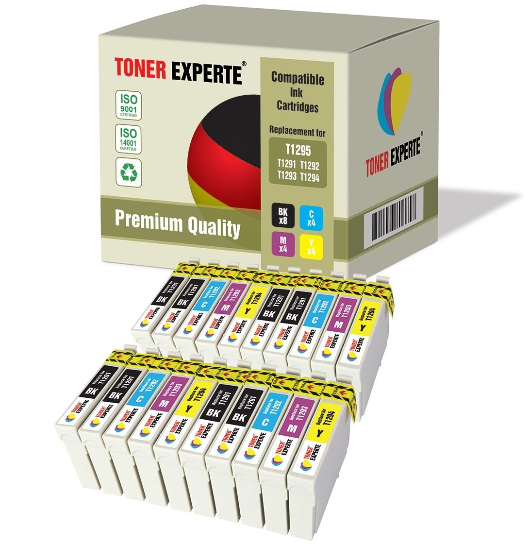Pack de 20 XL TONER EXPERTE® Compatibles T1295 Cartuchos de Tinta para Epson Stylus SX235W SX420W SX425W SX525WD SX535WD Office BX305F BX305FW BX320FW ...