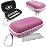 LOVE MY CASE / DURABLE Light Pink MP3 Player Case, Hard Clamshell Case, Earphone Case, Holder with Metal Carabiner Clip for Apple iPod Nano 7th Generation with Love My Case Cleaning Cloth