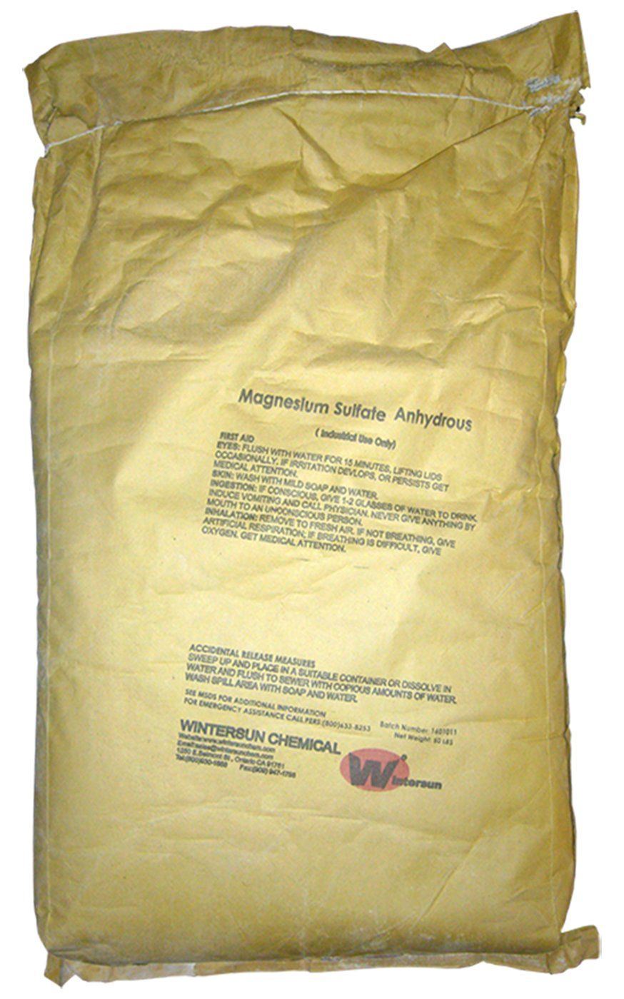 Magnesium Sulfate Anhydrous [MgSO4] [CAS_7487-88-9] 99+%, White Crystalline Powder (50 Lbs Bag) by Wintersun Chemical