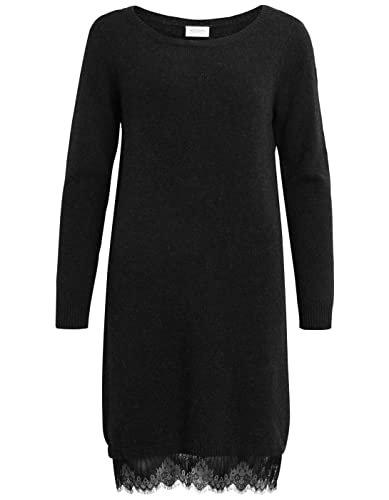 Knit lace dress VILAM by vila clothes (L – Black)