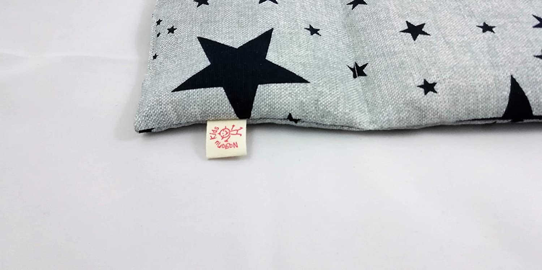 50 x 15 Coussin thermique de bl/é et lavande /étoiles bleues