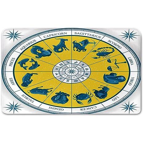 Amazon Memory Foam Bath Mat Astrology Modern Original Zodiac