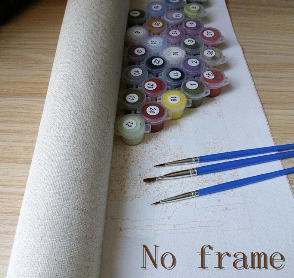 Pintura al óleo de DIY Por Números 16 * 20 pulgadas Sin marco Pintura Por Número de Kits Aceite Digital Pintura Pinturas Lienzo Arte de la Pared del Paisaje Ilustraciones Para Los Regalos-085