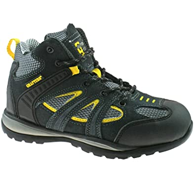 ... new lifestyle MENS GRAFTERS SUEDE SAFETY TRAINER BOOTS GREY YELLOW SIZE  3 - 12 M474FZ KD ... 08dfd52a5