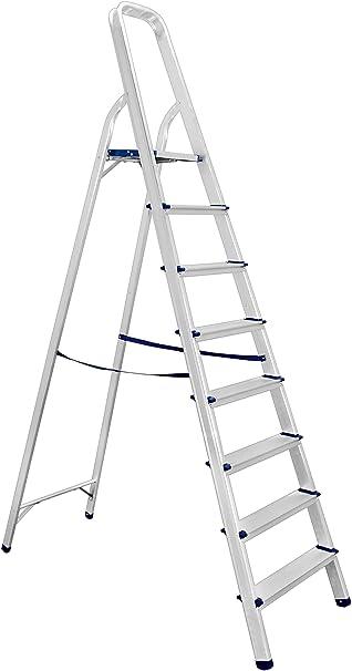 Escalera Colibri Casa domestica (aluminio y uso profesional, 8 peldaños plegable Sca001: Amazon.es: Bricolaje y herramientas