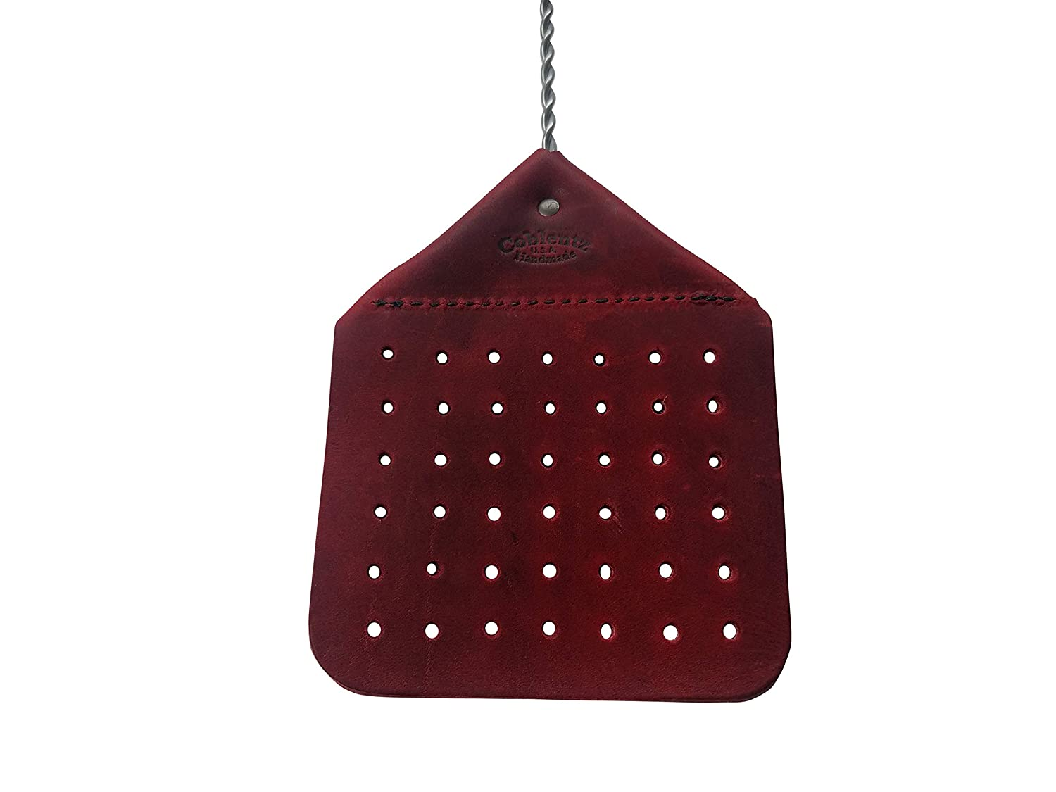 Amish Leather Fly Swatter Handcrafted Wire Handle Flyswatter Choice of Color (Black) Coblentz Leather