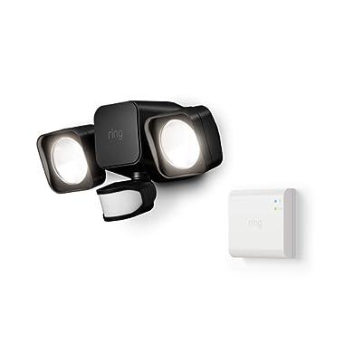 Introducing Ring Smart Lighting -  Floodlight, Battery - Black (Starter Kit)