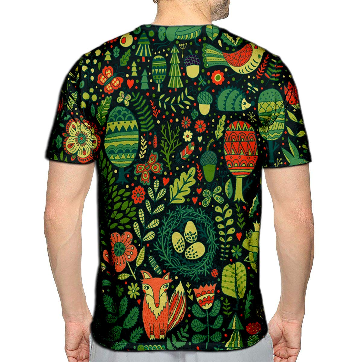 3D Printed T-Shirts Forest Design Floral Animals Frog Fox Owl Rabbit Hedgehog Sh
