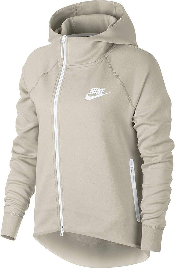 Nike Felpa da donna in pile con cappuccio, Donna, Scarpe