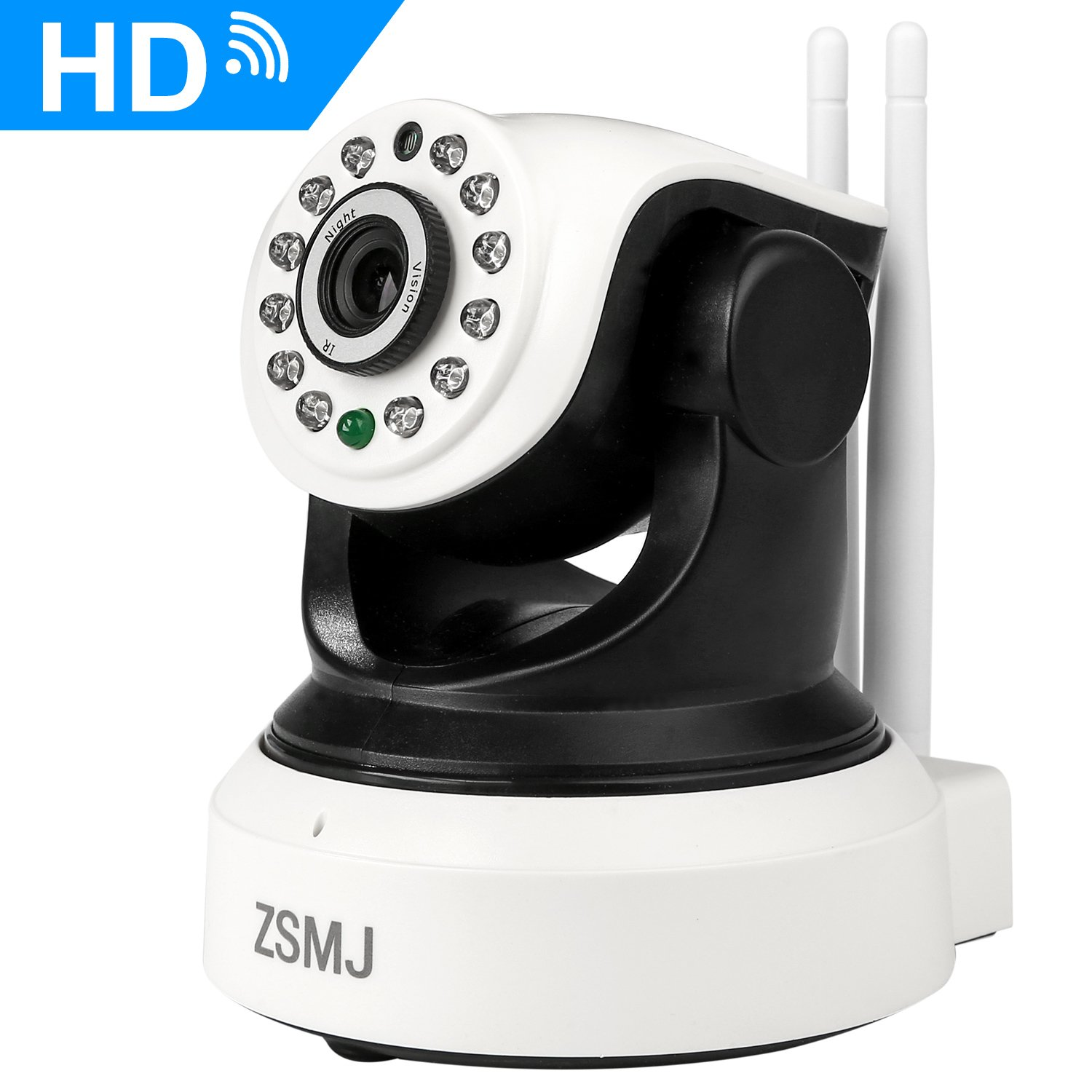ZSMJ Wireless Surveillance Camera Home Security Camera System Wifi 720P HD - Plug/Play Pan/Tilt Night Vision for Parents Baby Pet Guarding Wider HD Vision Indoor