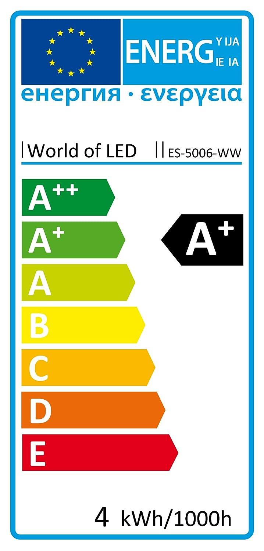 LED Einbaustrahler 230V Einbauleuchte 3x1 Watt ES 5006 WW Dimmbar WARMWEISS 3000K 290 Lumen Amazonde Beleuchtung