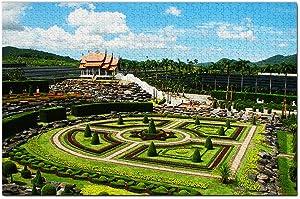 Thailand Nong Nooch Tropical Botanical Garden Pattaya Jigsaw Puzzle 1000 Piece Game Artwork Travel Souvenir Wooden
