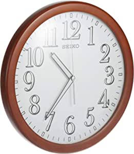 Seiko Lumibrite Wooden Office Wall Clock - Qxa720zls