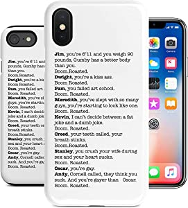 BrilliantCustom New Boom. Roasted. The Office Michael Roast iPhone Tough Case | iPhone 6 6s 6+ 7 7+ 8 8+ X XS XR Max (iPhone 7/8)