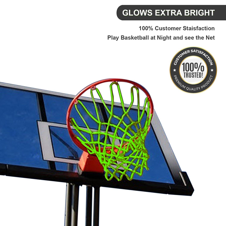 Amazon.com: Brilla en la oscuridad Red de baloncesto – aro ...