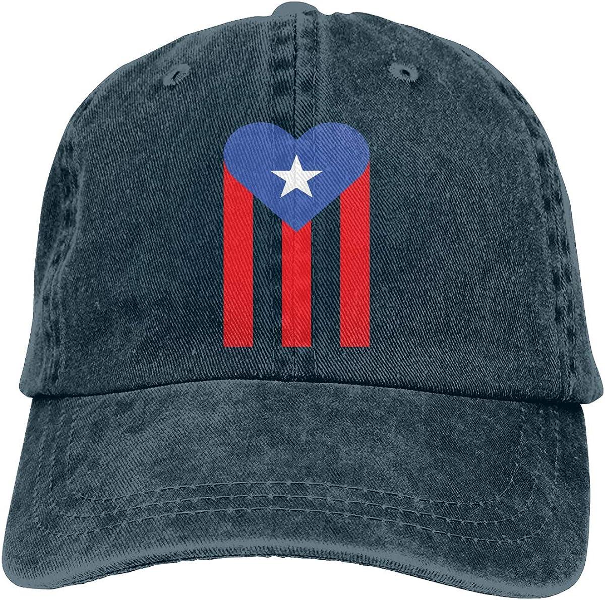 Puerto Rico Unisex Adult Cowboy Hat Sun Hat Adjustable Truck Driver Hat