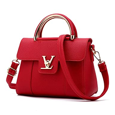 7e3b8347ae6e Flap V Women s Luxury Leather Clutch Bag Ladies Messenger Bags Famous Tote  Bag Red