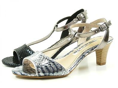 348665567e86 Tamaris Damen Sandaletten Silber Bronze, Schuhgröße EUR 40  Amazon ...