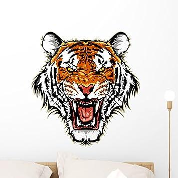 Roaring Tiger Wall Art Sticker Vinyl Decals