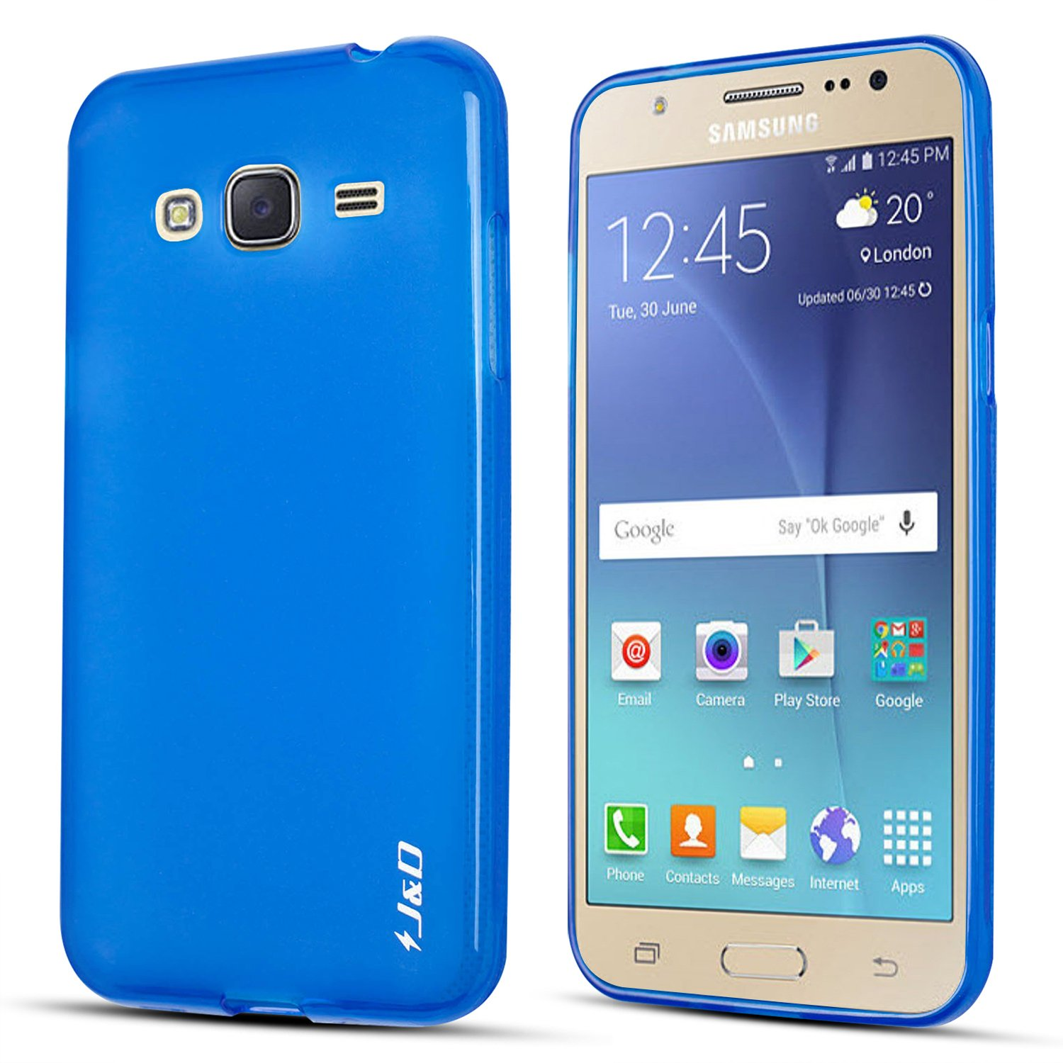 detailed look 7a21d d28b7 Galaxy J3 2016 Case, J&D [Drop Protection] Samsung Galaxy J3 Case [Slim  Cushion] Shock Resistant Protective Premium Jelly Case Slim Case for  Samsung ...