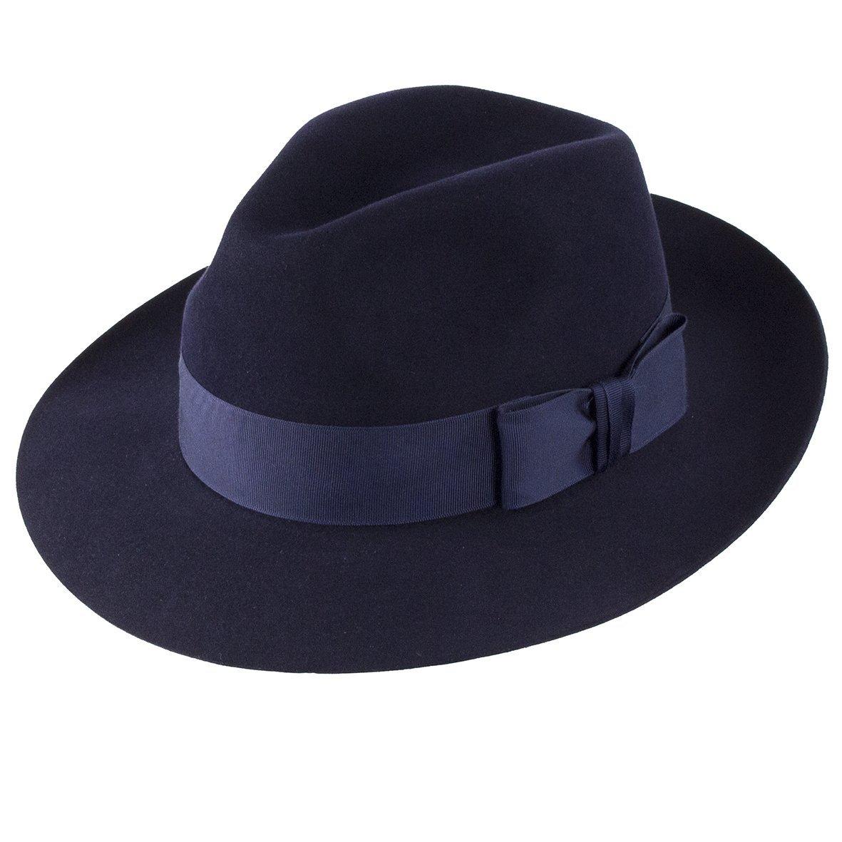 Christys Hats Knightsbridge Fur Felt Trilby - Navy
