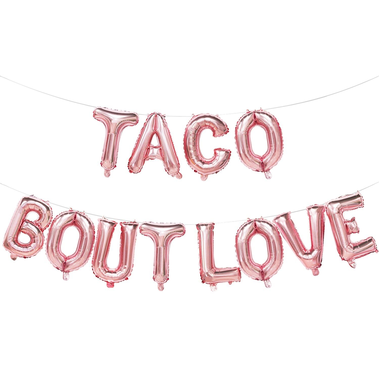 Taco Bout LoveBalloons Rose Gold | Taco Bout LoveBanner | Mexican Fiesta Themed Bridal Shower Bachelorette Party Wedding Decorations Supplies | 16inch