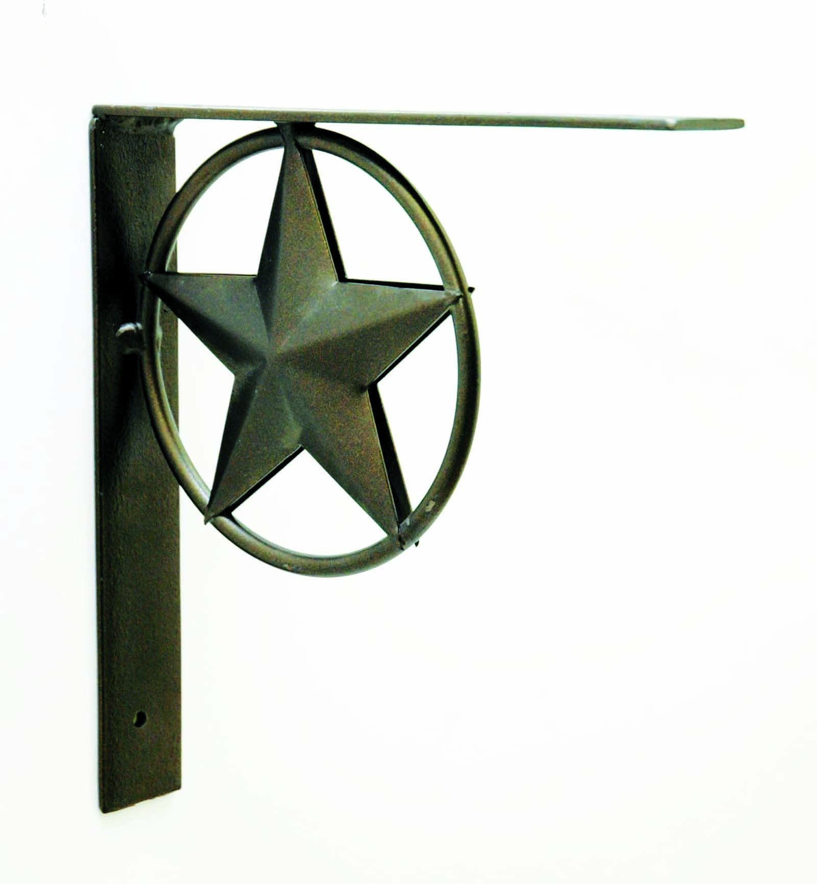 IRON STAR BRACKET, 8 INCHES TALL.