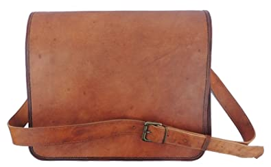 c0527398e Image Unavailable. Image not available for. Color: Goat Leather Laptop  Messenger Bag ...