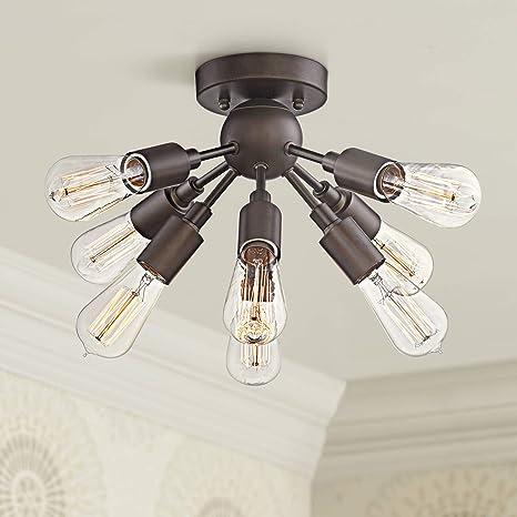 Hemingson Modern Ceiling Light Semi Flush Mount Fixture LED Edison ...