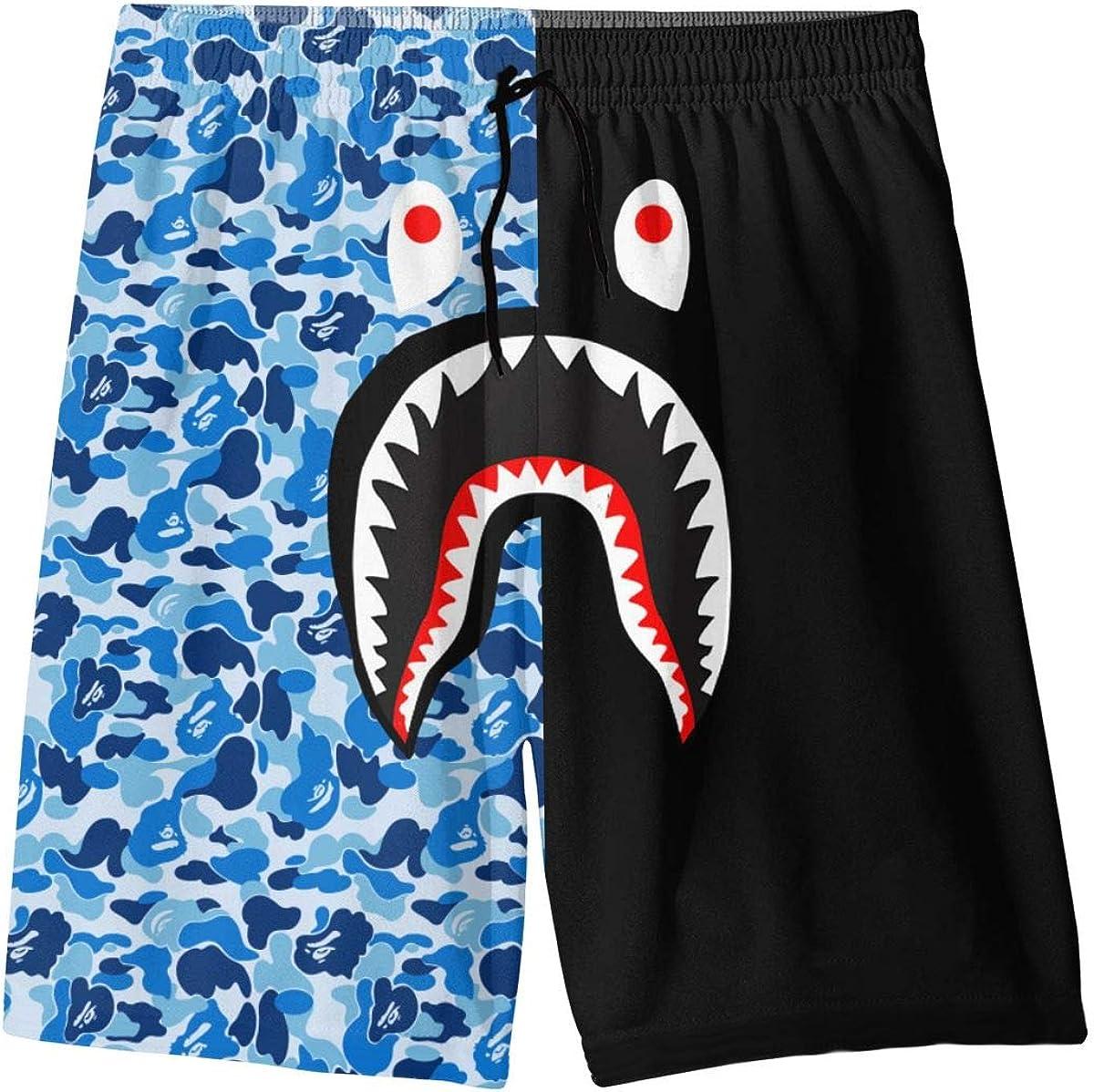 Bape Blood Shark Youth Boys' Shorts Summer Beach Casual Pants Swim Trunk Quick Dry
