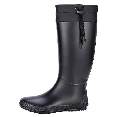 Women's Tall Rain Boots Soft Waterpoof Wellington Wellies Ultra Lightweight Garden Boots | Rain Footwear