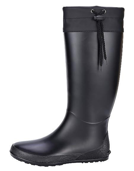 Amazon.com: Botas de lluvia altas para mujer, impermeables ...