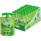 GoGo squeeZ Fruit on the Go, Apple Apple, 3.2 oz. (18 Pouches) - Tasty Kids Applesauce Snacks Made from Apples - Gluten Free