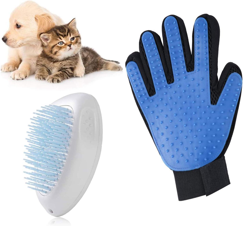 FINEVERNEK Cepillo Perros y Gatos, Cepillo Mascotas, Cepillo De Pelo Gato, Cepillo Perro Pelo, Peine de Limpieza para Mascotas+Guante Pelo Gato, Guantes de Masaje para Perros para Masajear y Limpieza: Amazon.es: Productos
