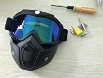 Love this goggle/face shield combo. Very comfortable and looks cool.