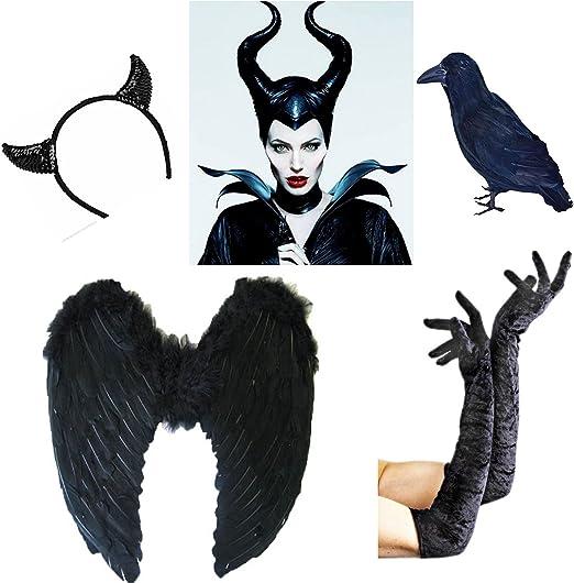 Halloween disfraz de Maléfica cuernos mal cuernos Disfraz de la ...