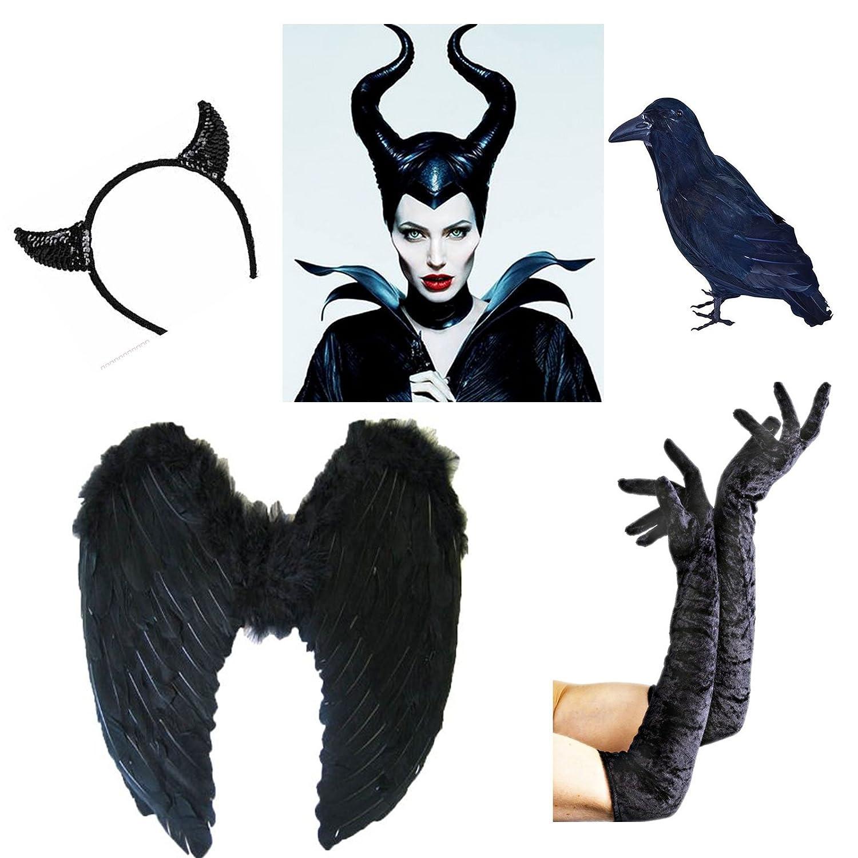 Halloween disfraz de Maléfica cuernos mal cuernos Disfraz de ...