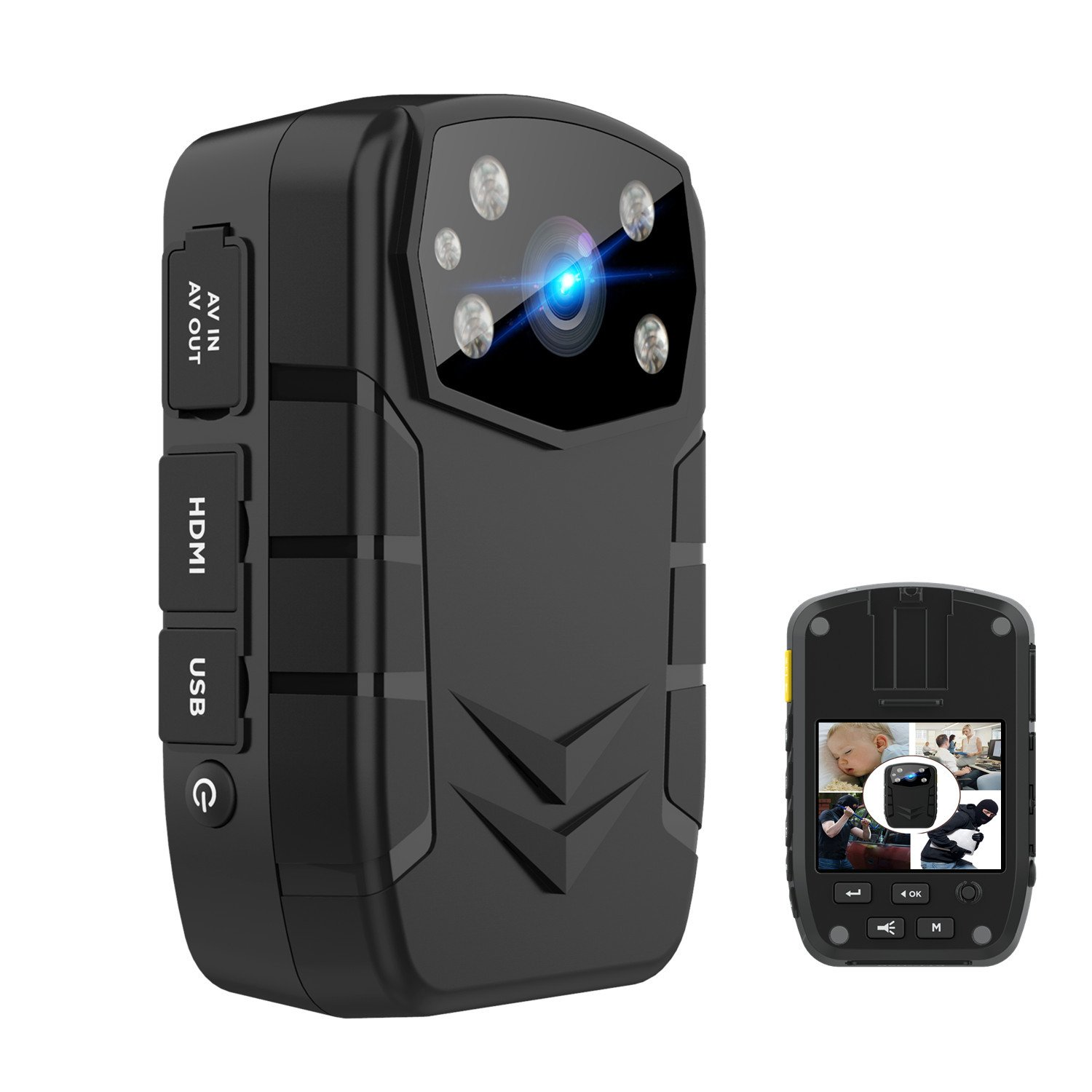 Yilutong 1296P HD Police Body Camera for Law Enforcement With 2 Inch Display Night Vision