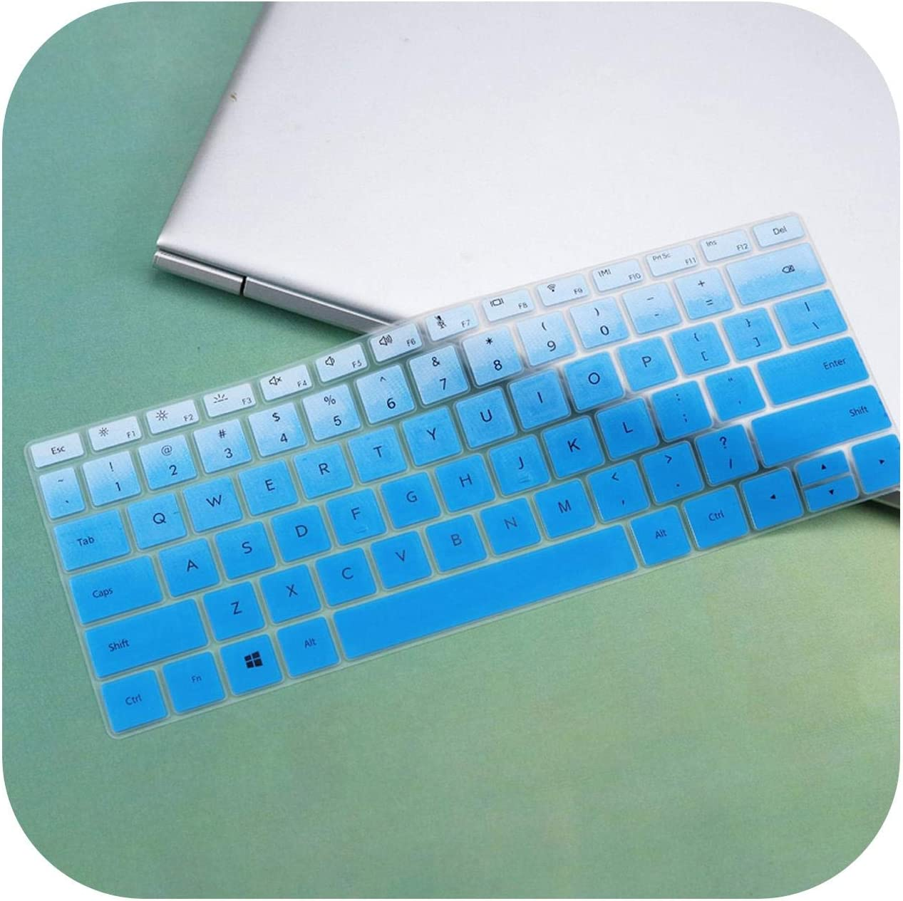 Notebook D14 14.0 Silicone Laptop Keyboard Cover Protector Skin-Whiteblue AMD Film Pour Clavier for Huawei Matebook D 14 Inch