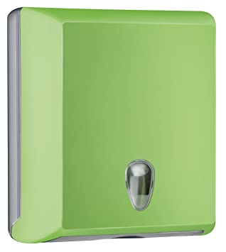 DISTRIBUIDOR DISPENSADOR DE SERVILLETAS DE PAPEL, DOBLADAS A Z TOALLITAS DE PARED MULTICOLOR SOFT TOUCH verde: Amazon.es: Hogar