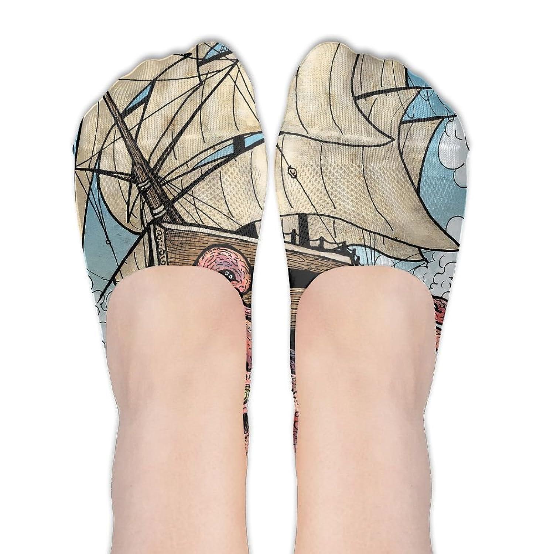 Hot Giant Octopus Fashion Thin Casual Low Cut Flat Boat Liners Womenâ€s Socks