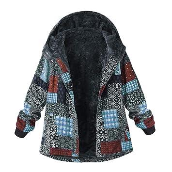 Fenleo Womens Plus Size Winter Warm Sherpa Vintage Lined Zip up Hooded Sweatshirt Jacket Coat