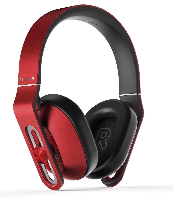 1MORE MK802 Bluetooth Kopfhö rer 4.1 aptX Stereo Kabellos Headset Over-Ear mit Mikrofon, 3-Stufen-Bass, fü r TV Smartphone Tablet Laptop PC (Rot) 1MEJ005HA